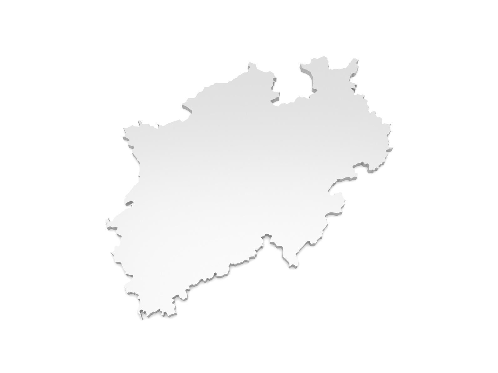 3D Karte Nordrhein-Westfalen